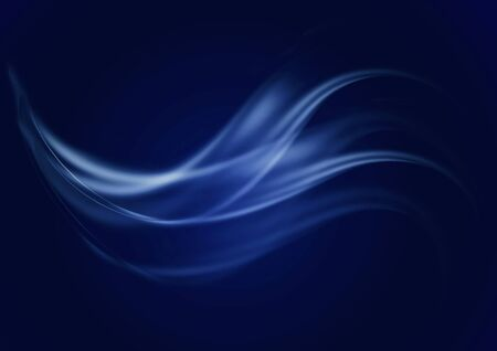 Abstract dark blue background with current concave blue and bluish waves