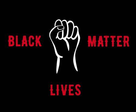 Black lives matter. Social poster, banner. No to racism. I can't breathe. Flat vector illustration. Vector illustration