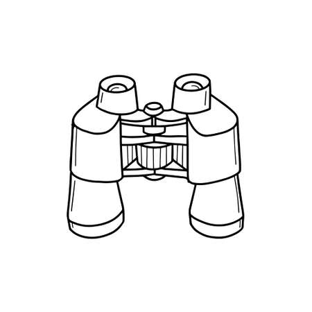 Tourist binoculars isolated on a white backgroun.long-range vision device, image intensifier optical device