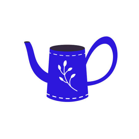 The watering can is isolated on a white background.A garden tool or agricultural tool for use in gardening.Flat vector illustration.