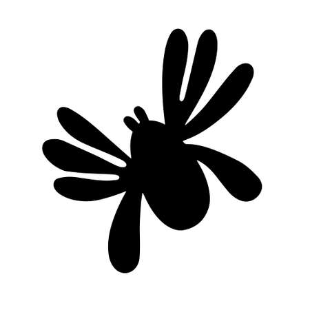 Black spider isolated on a white background. Silhouette of a spider. Design element for Halloween. Vector stock illustration