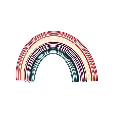Boho rainbow. Scandinavian style rainbow