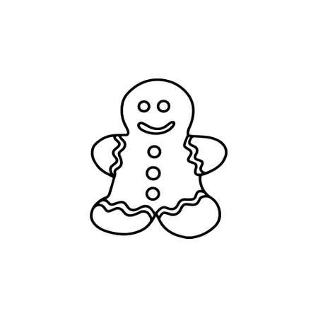 Gingerbread man. Doodle style. Vector illustration Illustration