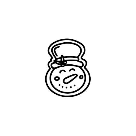 Gingerbread snowman. Hand drawn vector illustration in Doodle style Illustration