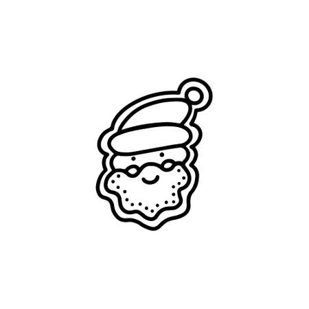 Gingerbread Santa Claus. Hand drawn vector illustration in Doodle style