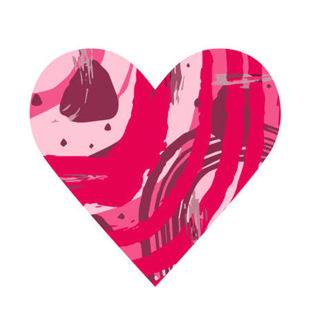 .Abstract heart. Red abstract silhouette in the shape of a heart. Design for Valentines Day, wedding, medicine. Vector