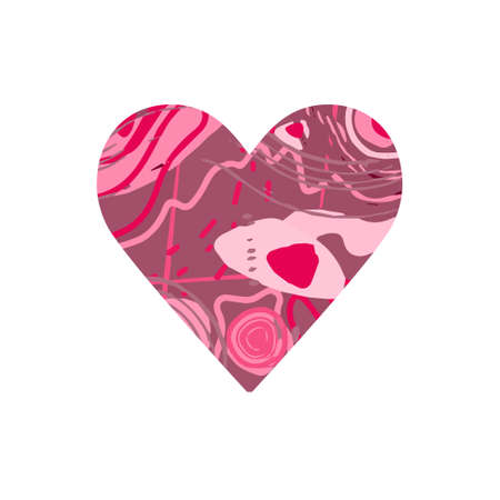 .Abstract heart. Red abstract silhouette in the shape of a heart. Design for Valentines Day, wedding, medicine. Vector 向量圖像