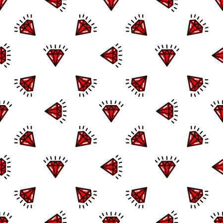 diamonds in the style of old school tattoo pattern