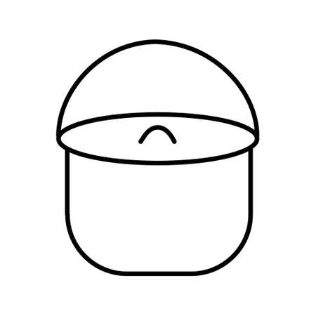 Pan icon.A camp pot for cooking over a campfire.Vector illustration