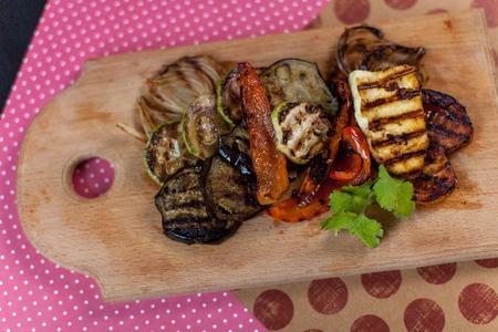 Grilled vegetables on dock Reklamní fotografie