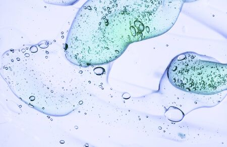 Liquid gel cosmetic smudge blue texture
