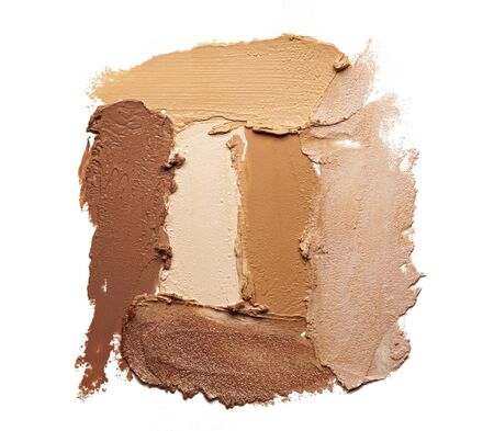 Make-up matte concealer foundation bb-cream smudge powder creamy white isolated background Archivio Fotografico