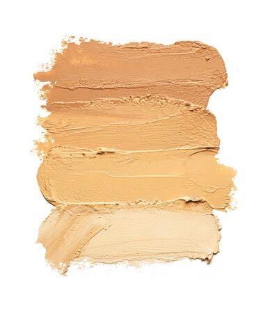 Make-up matte concealer foundation cream mousse smudge powder creamy white isolated background