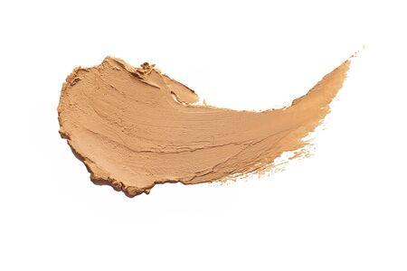 Make-up matte concealer foundation cream mousse smudge powder creamy white isolated background Stock fotó
