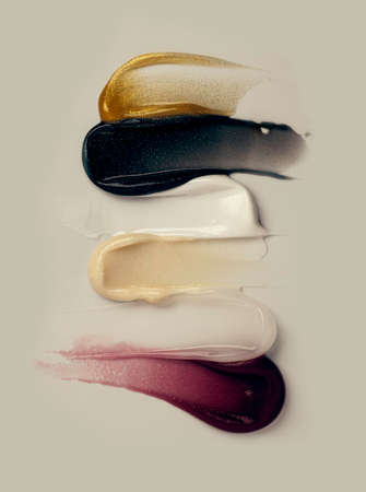 Sample swatch of cosmetic mask or cream balm texture Standard-Bild