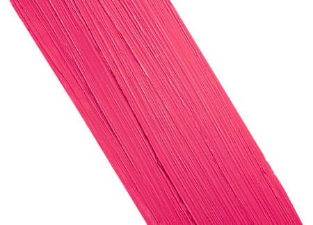 Lipstick pink swatch isolated on white background Zdjęcie Seryjne