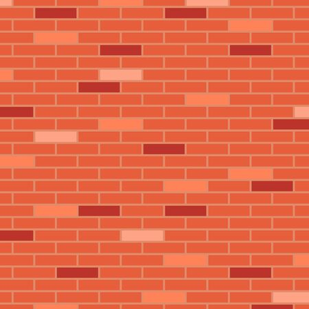 Vector illustration, red brick wall, abstract background. Çizim