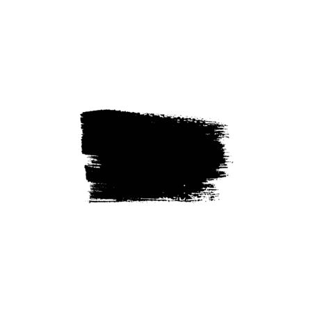 Sloppy brush strokes, black paint stain. Vector illustration. Place for text. Can be using for web design, logos, banners, cards, leaflets, posters, for design clothing, bags, interior decoration.