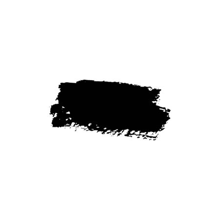 Black sloppy brush strokes with texture. Vector illustration. Place for text. Can be using for web design, logos, banners, cards, leaflets, posters, for design clothing, bags, interior decoration. Çizim