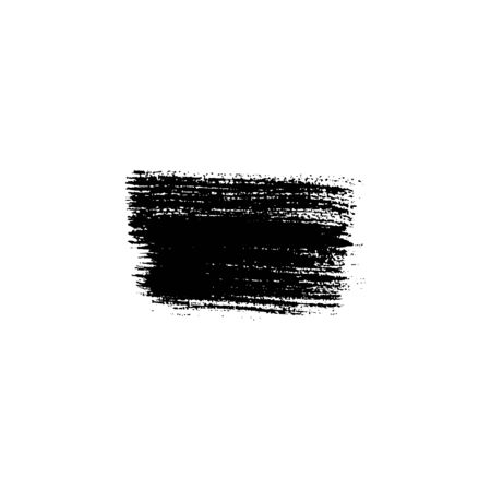 Sloppy brush strokes with texture. Vector isolated illustration. Place for text. Can be using for web design, logos, banners, cards, leaflets, posters, for design clothing, bags, interior decoration. 写真素材 - 132645402