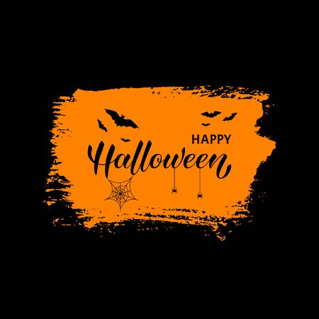 Happy Halloween vector lettering. Vector isolated illustration.