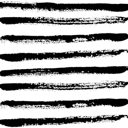 Pattern of straight lines with texture drawn with brush, sloppy brush strokes. Vector illustration. Template for scrapbooking. For web, banners, greeting cards, for design clothing, interior.