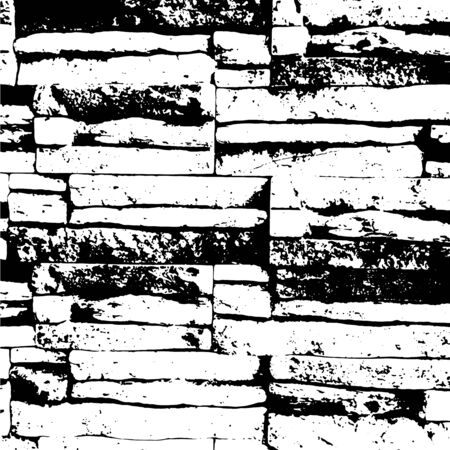 Vector isolated illustration. Stone texture, brick background. Ilustração
