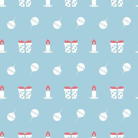 Christmas seamless pattern with balls. Vector illustration. Ilustração