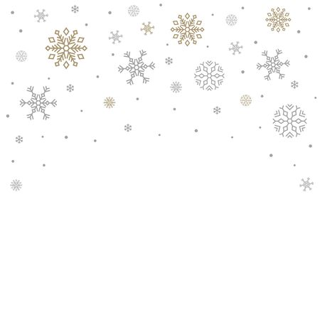 Christmas white background for text. Vector illustration.