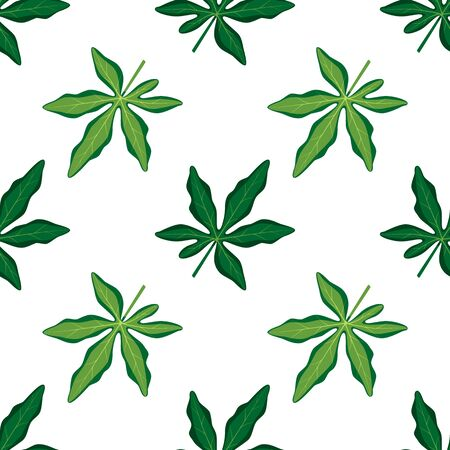 Summer seamless pattern Tropical leaves. 向量圖像