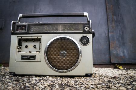 old radio: old radio Stock Photo