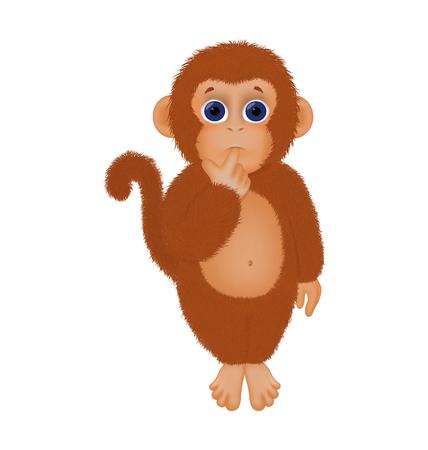 shaggy: little shaggy monkey for your design vector Illustration