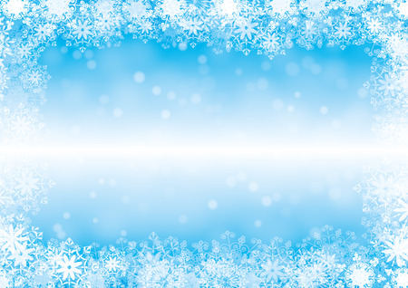 winter background with snowflakes for your design