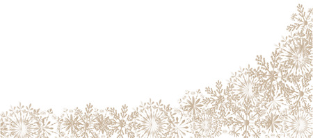 season s greeting: winter background with snowflakes for your design