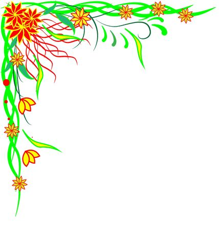 Vector floral pattern frame for your design