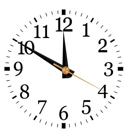 Clock vector illustration, you set the time Illustration