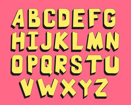 Color children alphabet, vintage style - vector illustration EPS 10