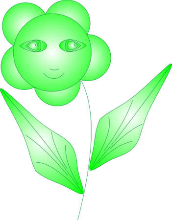 The floret of green color with eyes smiles