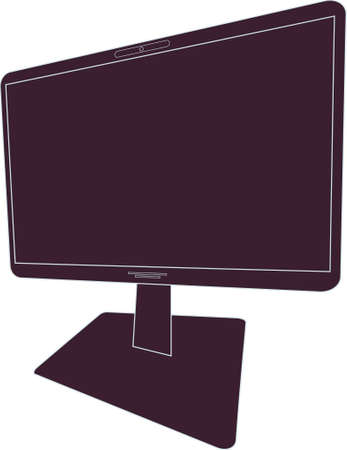 the liquid crystal monitor from the computer