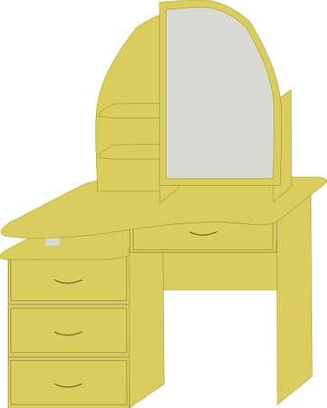 dressing table of light color Illustration
