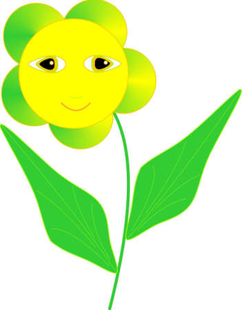 the solar floret smiles Illustration