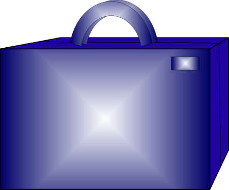 suitcase of dark blue color