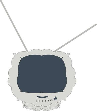 TV of unusual model Illustration