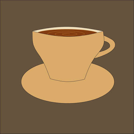 cup of coffee of brown color