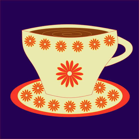 Cup from coffee on a saucer Illustration