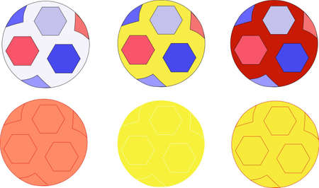 six balls of different color Stock Vector - 13538226
