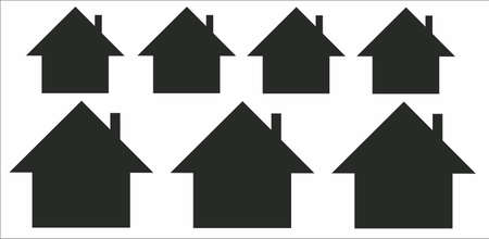 contours of houses on a white background Illustration