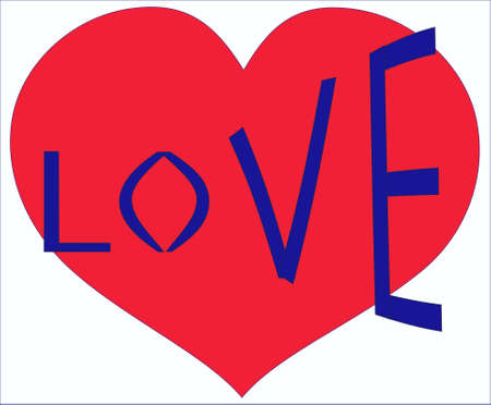 Love and heart Stock Vector - 13792882