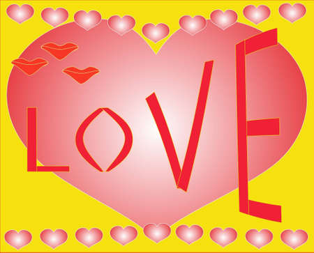 The love and is a lot of hearts Stock Vector - 13792879