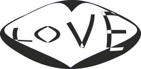 Love, symbol Illustration